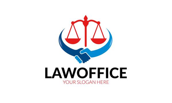 law office logo vector
