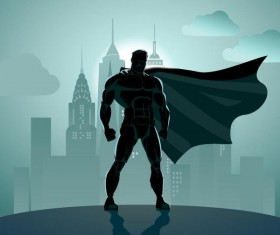 superman illustration design vector