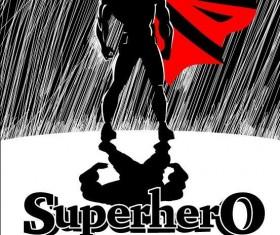 superman in the rain vector 01