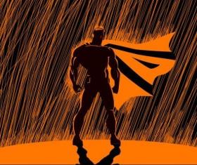 superman in the rain vector 02