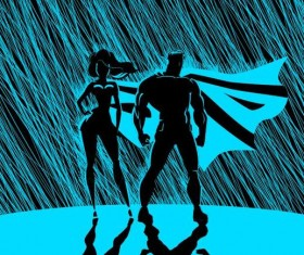 superman in the rain vector 03