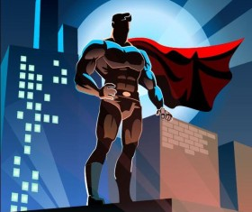 superman with city vector