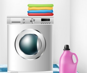 washing machine illustration vector