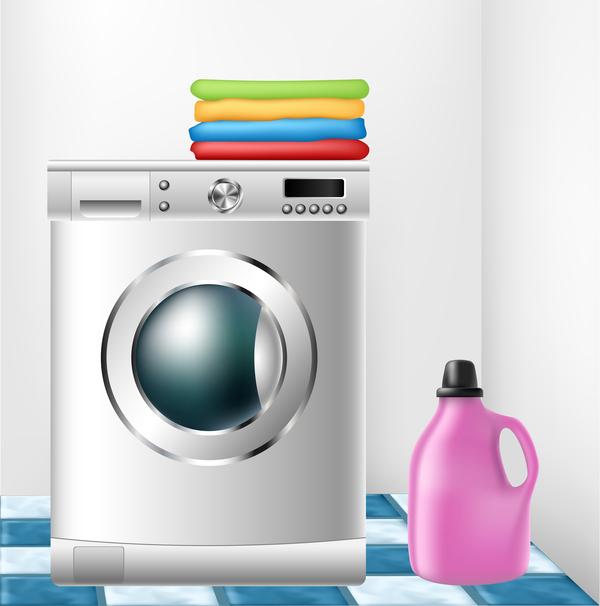 washing machine illustration vector