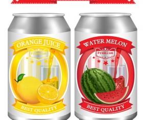 watermelon with orange juice design vector