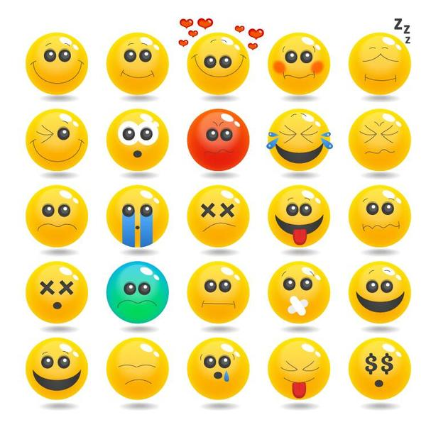 25 Kind Cute expression icons