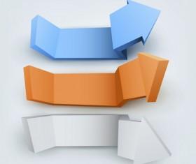 3 Kind 3D arrow vector