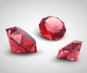 3 red diamond vector material