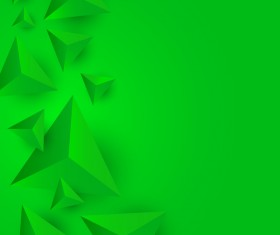 3D triangle green background vector