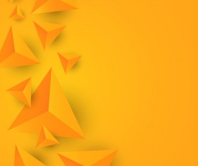 3D triangle yellow background vector