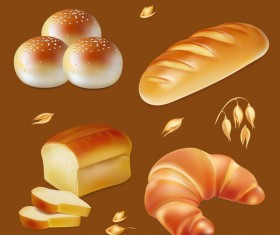4 Kind bread illustration vector