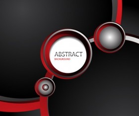 Abstract red with black background vector