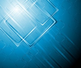 Abstract square with blue background vector