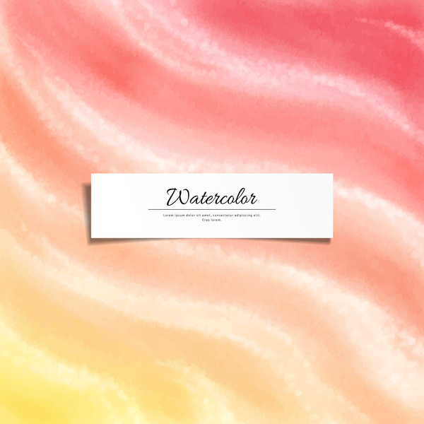 Abstract watercolor hand drawn background vector 01