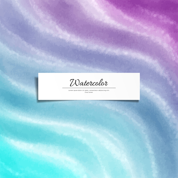Abstract watercolor hand drawn background vector 02
