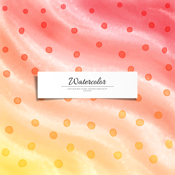Abstract watercolor hand drawn background vector 05