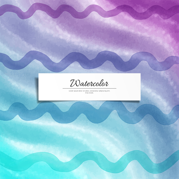 Abstract watercolor hand drawn background vector 06