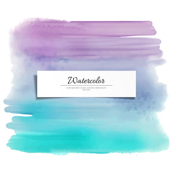 Abstract watercolor hand drawn background vector 08