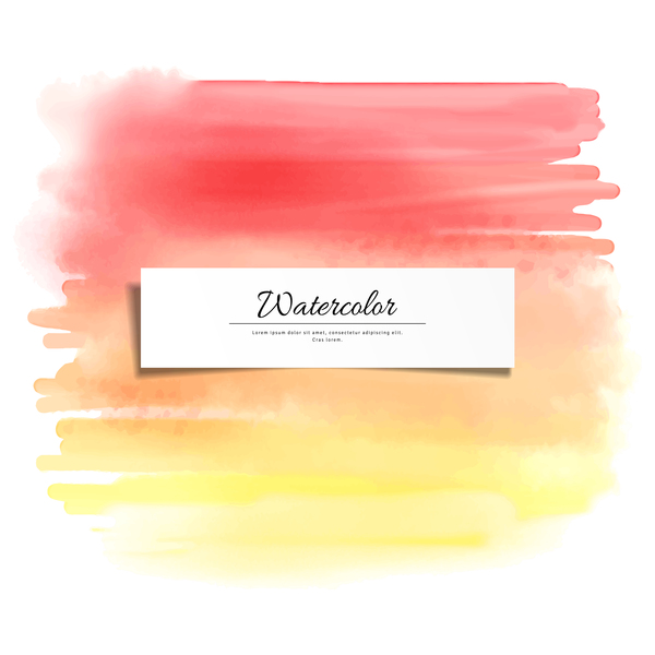 Abstract watercolor hand drawn background vector 09