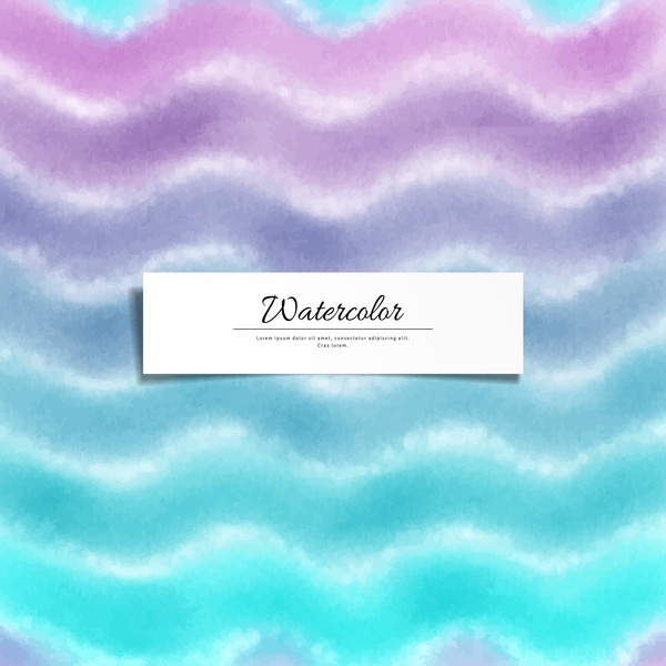Abstract watercolor hand drawn background vector 10