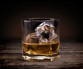 Add ice scotch whiskey Stock Photo