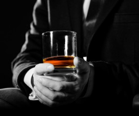 Alcoholic drinks in hand Stock Photo 05