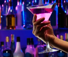 Alcoholic drinks in hand Stock Photo 06