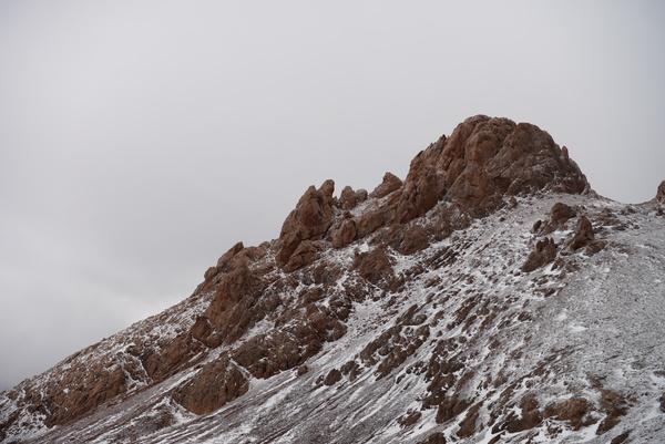 Amazing mountain peak landscape Stock Photo