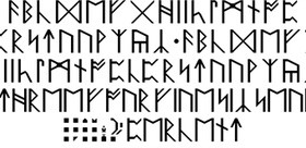 Anglo Saxon Runes Font