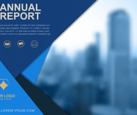 Annual report brochure cover vector 02