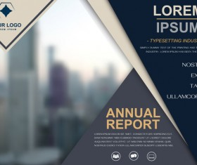 Annual report brochure cover vector 03