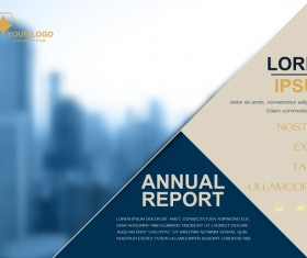 Annual report brochure cover vector 04