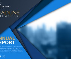 Annual report brochure cover vector 05