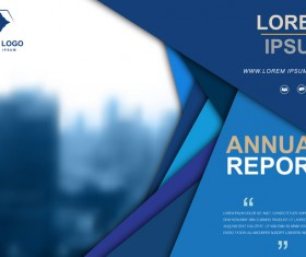 Annual report brochure cover vector 09