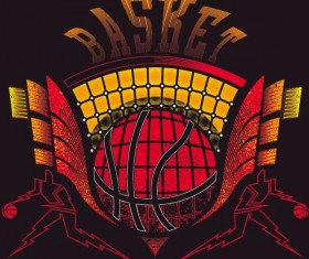 Basketball sign design vector material