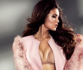 Beautiful and charming fashion model Stock Photo 01