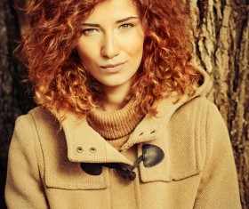 Beautiful red haired woman Stock Photo 04