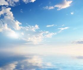 Beautiful sea scenery Stock Photo