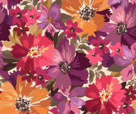 Beautiful watecolor flower pattern seamless vector 04