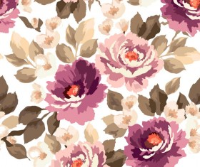 Beautiful watecolor flower pattern seamless vector 07