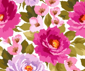 Beautiful watecolor flower pattern seamless vector 08
