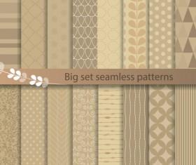 Beige texture seamless patterns vector 02