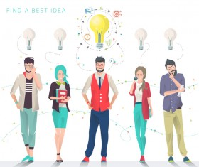 Best idea business template design vector