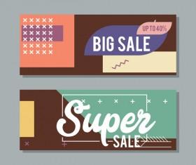 Big sale banner template vectors 03