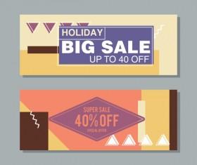 Big sale banner template vectors 04