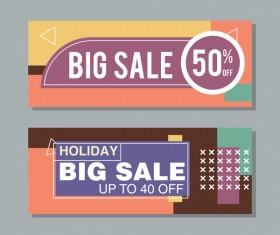 Big sale banner template vectors 05