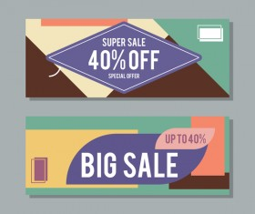 Big sale banner template vectors 06
