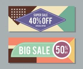 Big sale banner template vectors 07