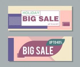 Big sale banner template vectors 08