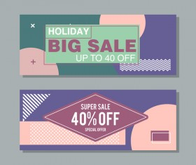 Big sale banner template vectors 09